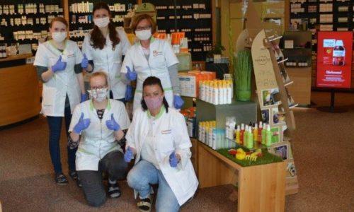 Gruppenfoto Team 1 mit Maske